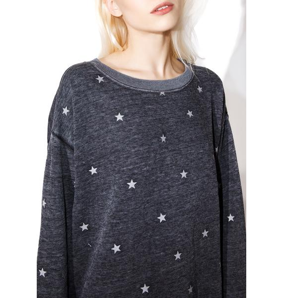 Wildfox Couture Football Star Long Pullover