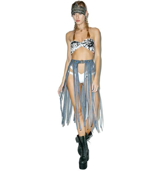 Tru Blue Queening Fringe Belt