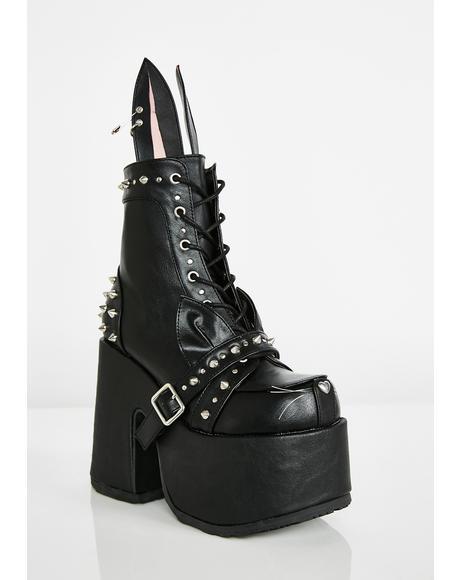 Baddie Bunny Platform Boots