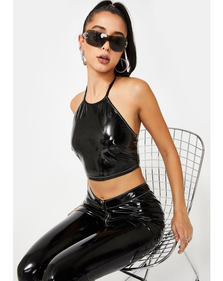 Big Mad PVC Halter Top