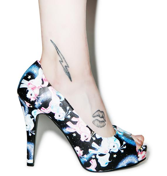 Iron Fist My Little Pony Celestial Peep Toe Heels