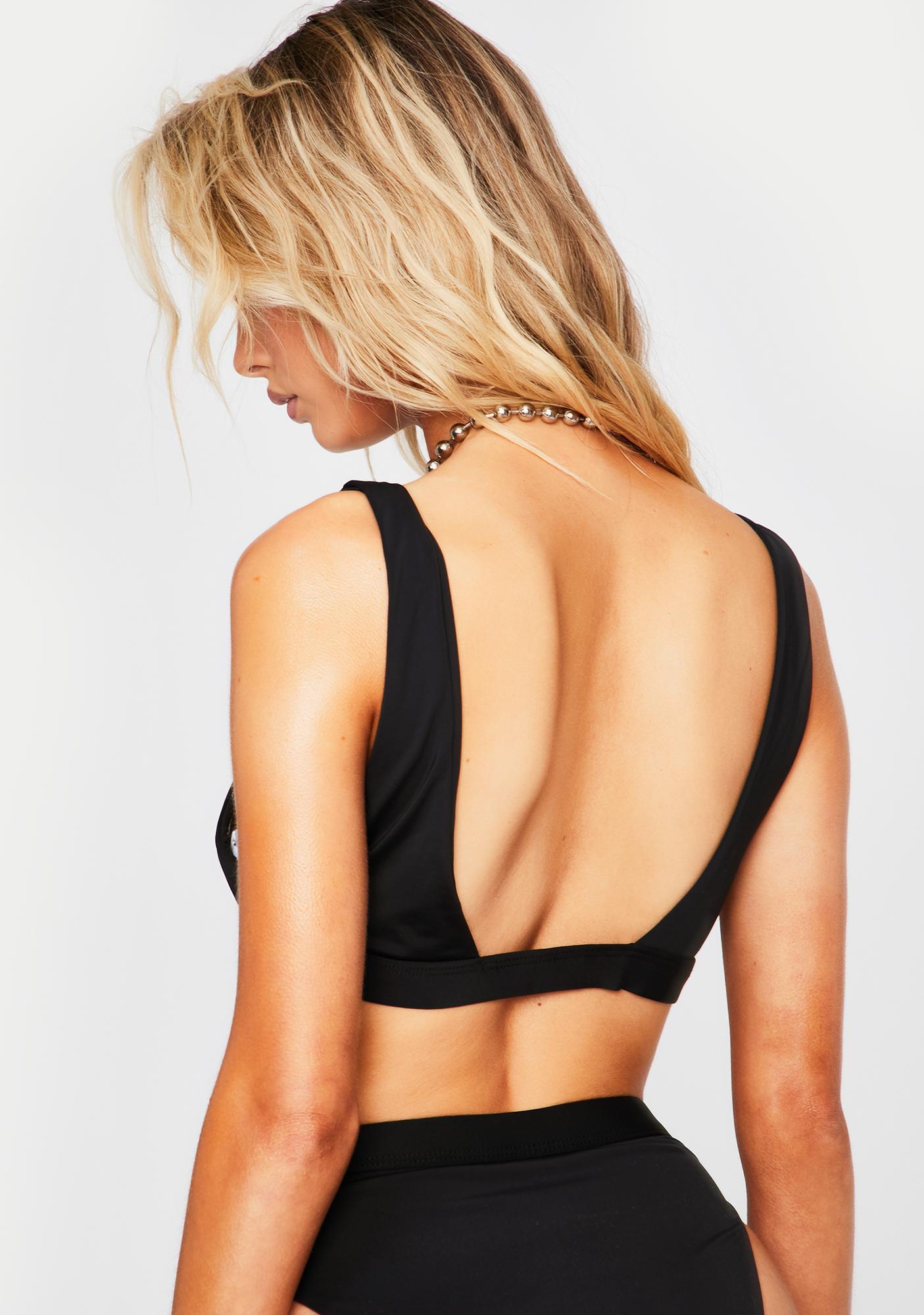 Dippin' Daisy's Black Festival Bikini Top