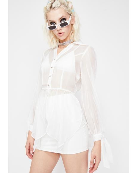 Icy It Girl Organza Top
