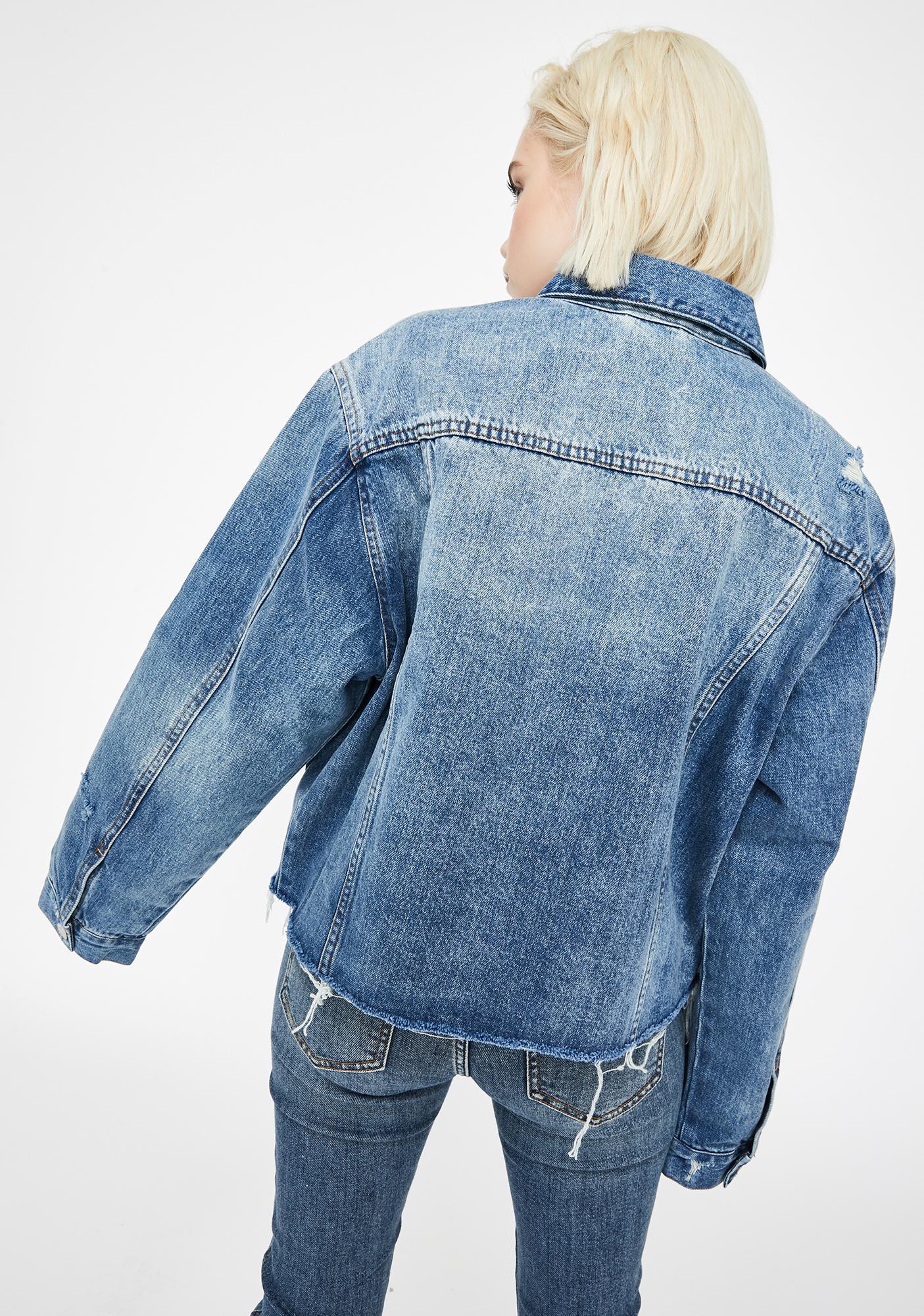 Daze Ex Boyfriend Distressed Denim Jacket