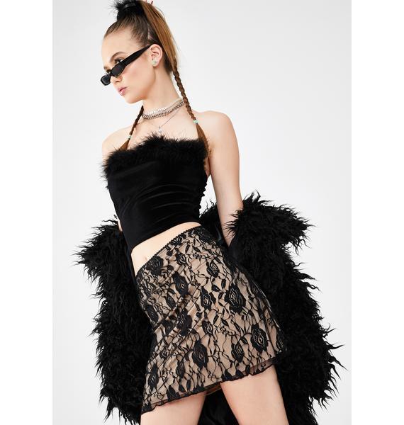 dELiA*s by Dolls Kill Sugar N' Spice Lace Skirt