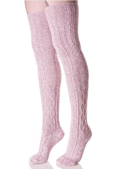 First Position Thigh High Socks