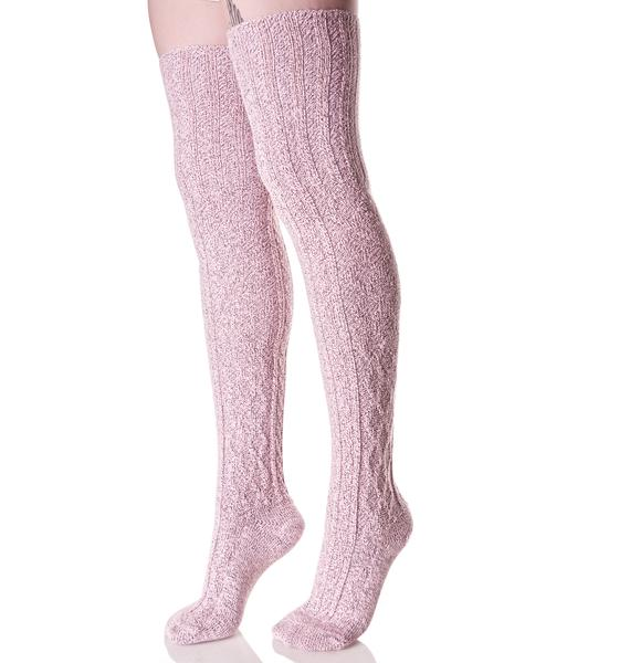 First Position Thigh High Socks