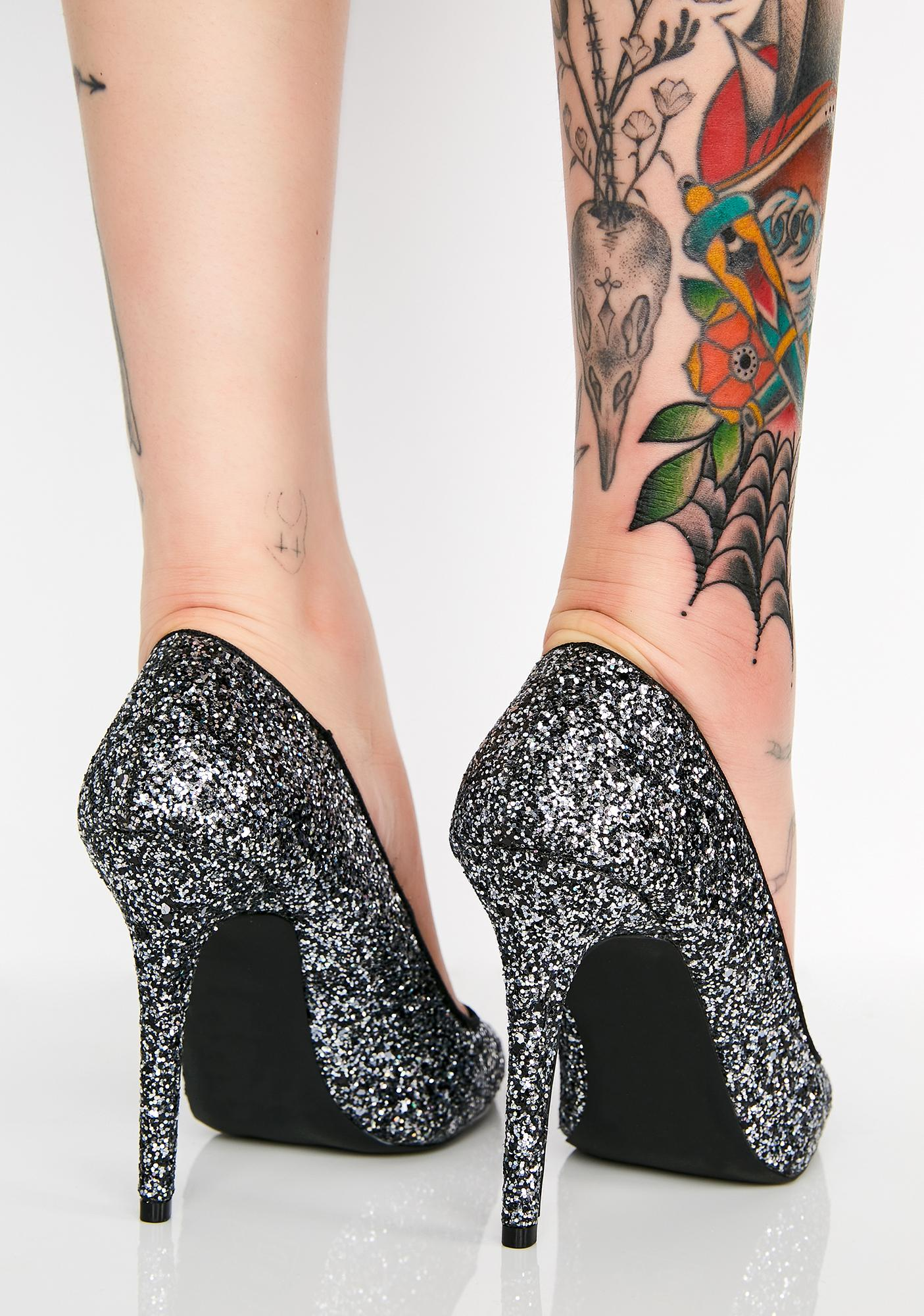 Wicked Lady Glitter Sparkles Pumps