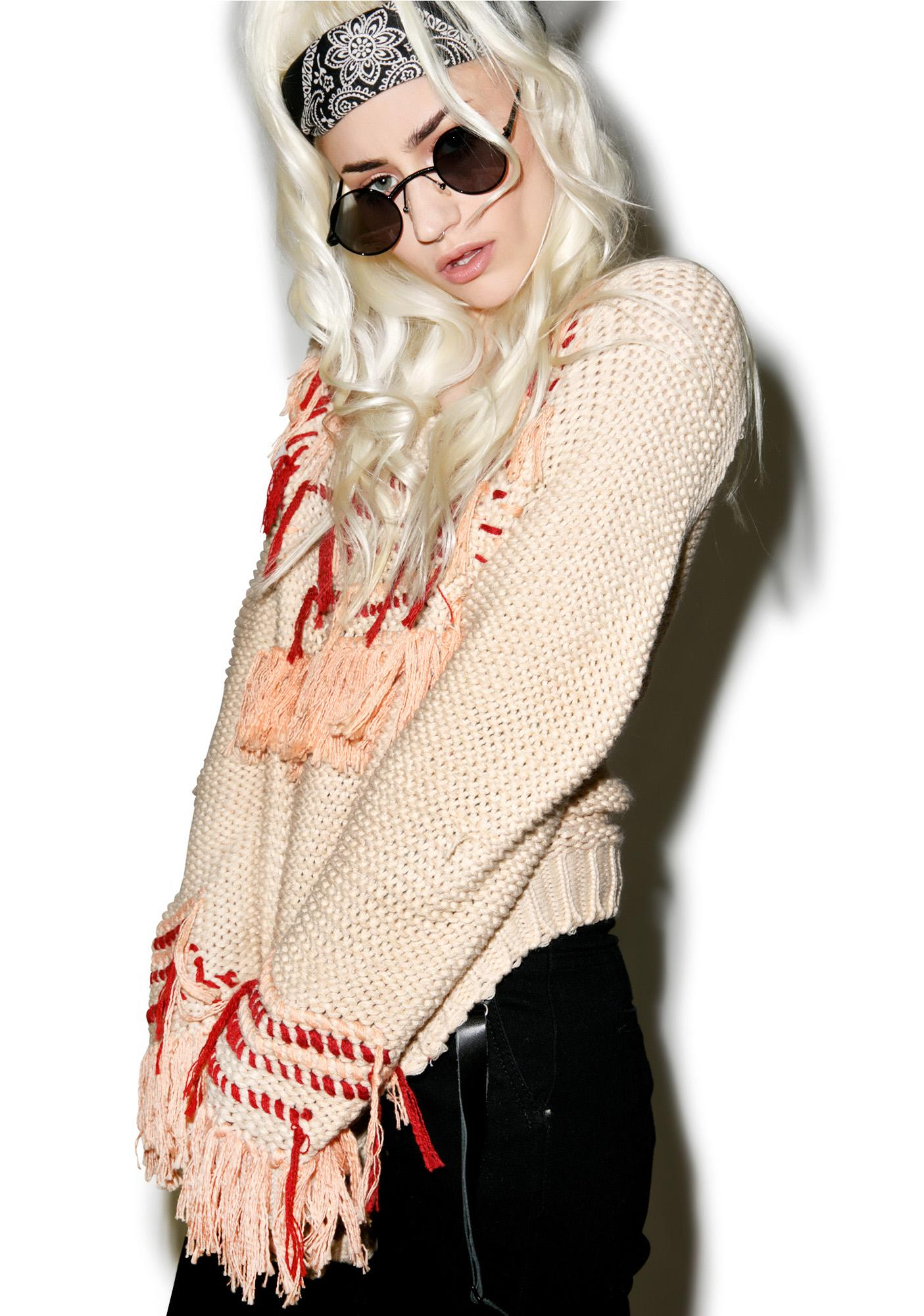 For Love & Lemons Denver Loom Knit Pullover