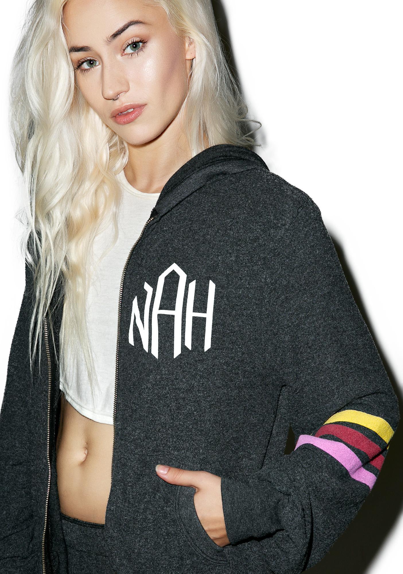 Wildfox Couture Nah Sports Malibu Zip Up