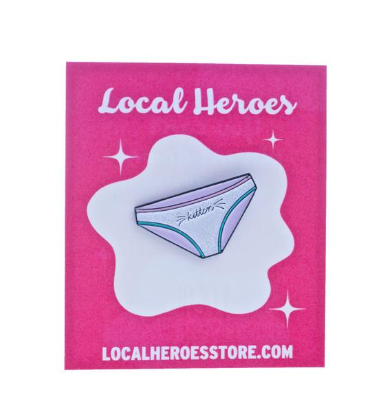 Local Heroes Kitten Glitter Pin