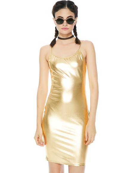 Midas Touch Mini Dress