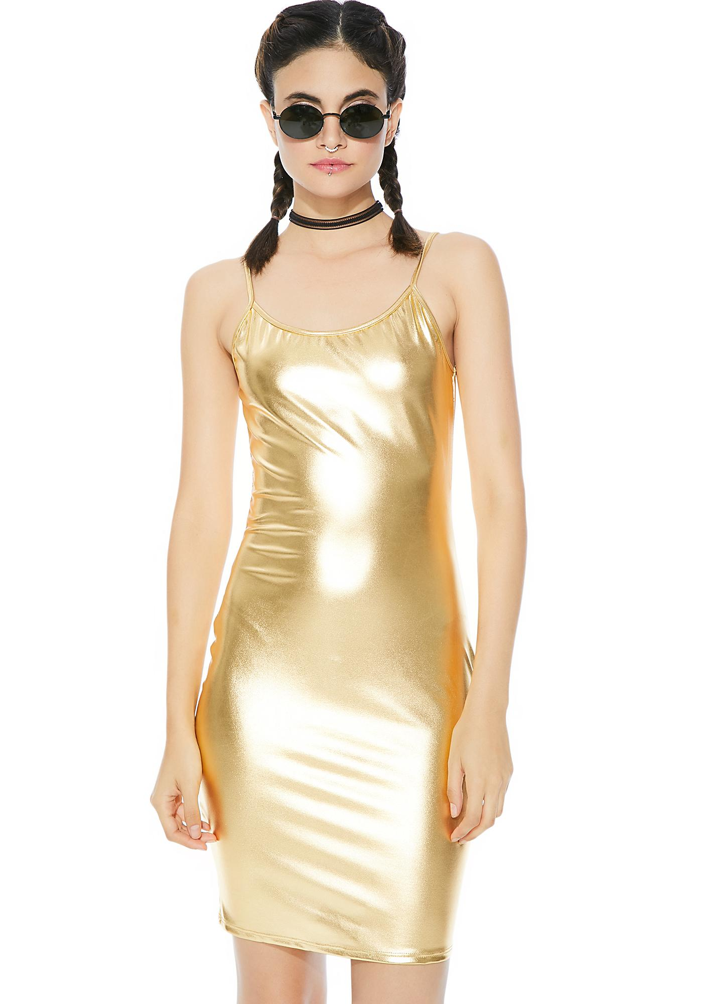 Midas Touch Mini Dress