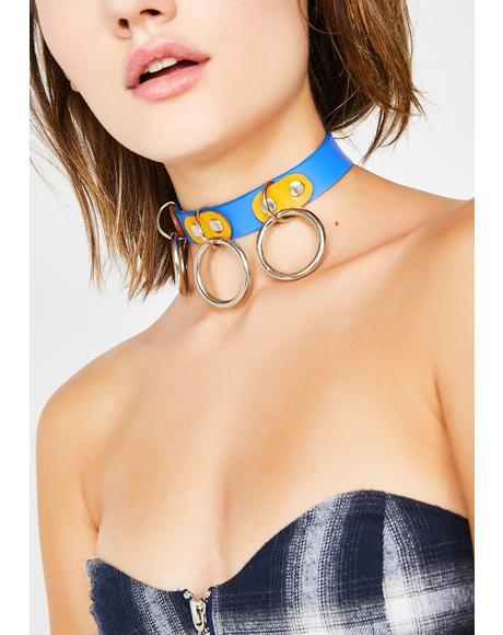 Bleu Crayola Demonia Collar