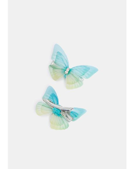 Gentle Kiss Butterfly Hair Clips