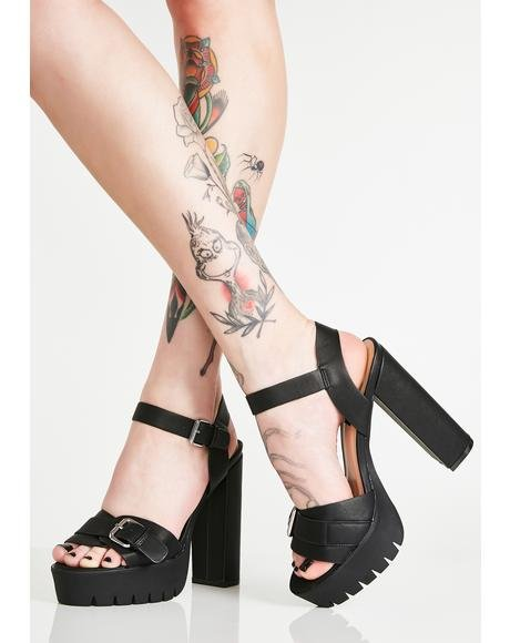 Midnight Lets Dance Platform Heels