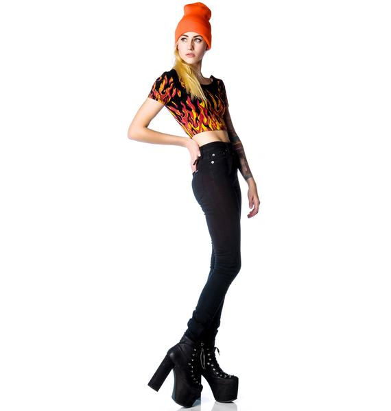 Kill City Too High Waisted Stretch Twill Jeans