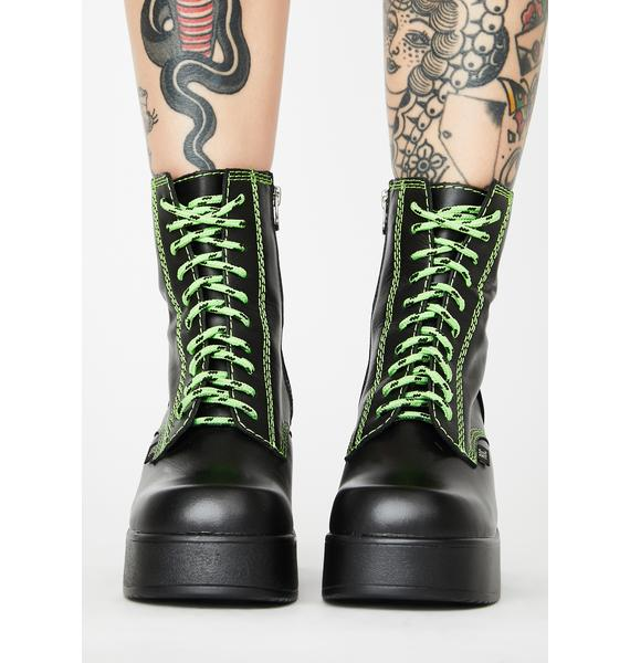 ROC Boots Australia Lime Pyramid Ankle Boots