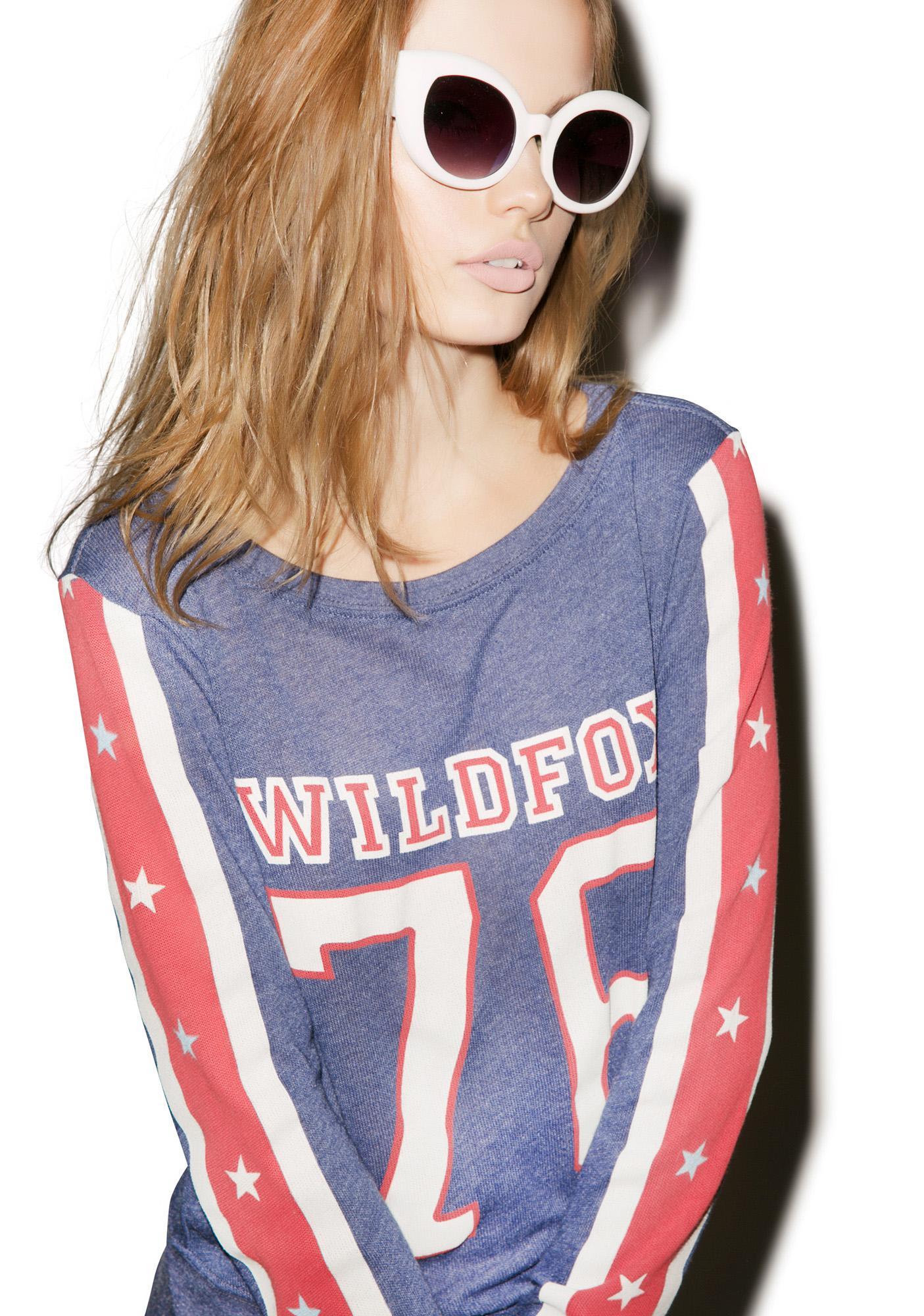 Wildfox Couture Est. 1776 Baggy Summer Jumper