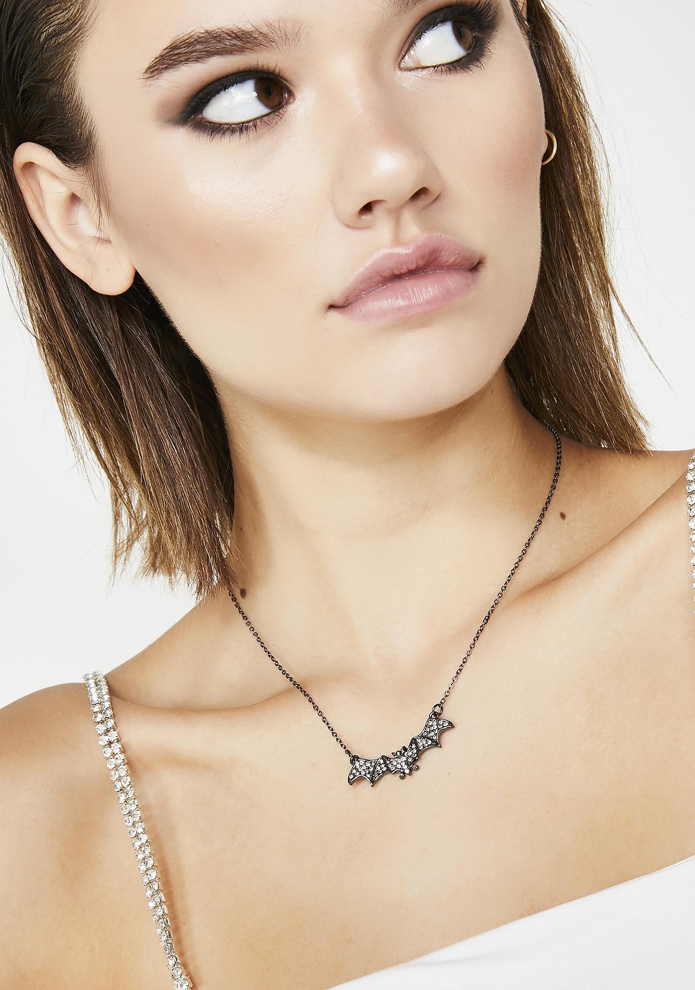 Spooky Sass Bat Necklace