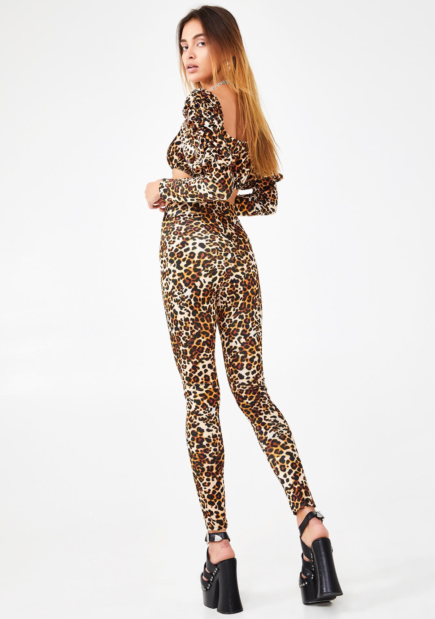 NEW GIRL ORDER Leopard Print Leggings