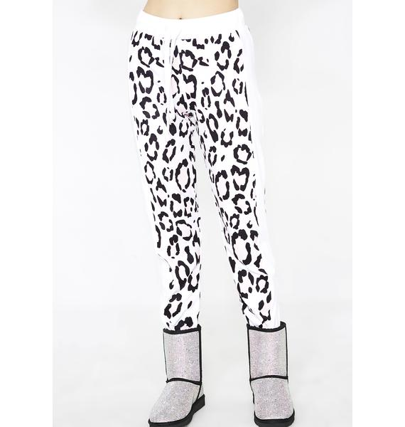 Wildfox Couture Blush Leopard Sport Jack Joggers