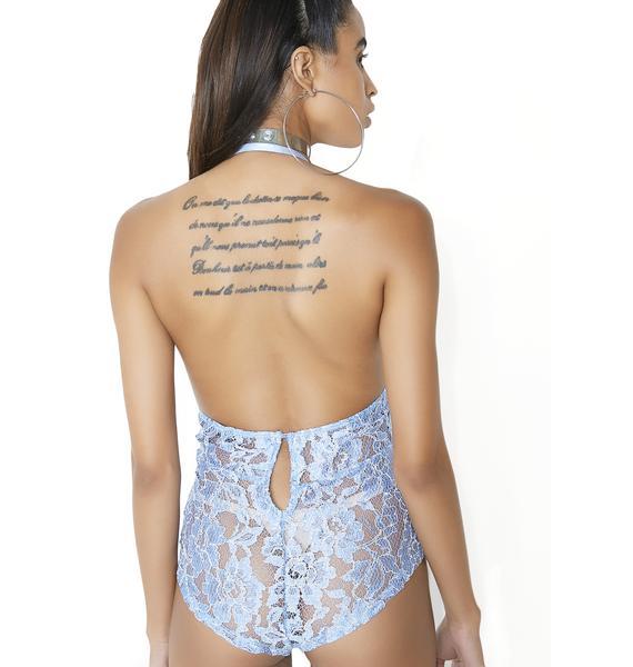 Sapphire Desire Lace Bodysuit