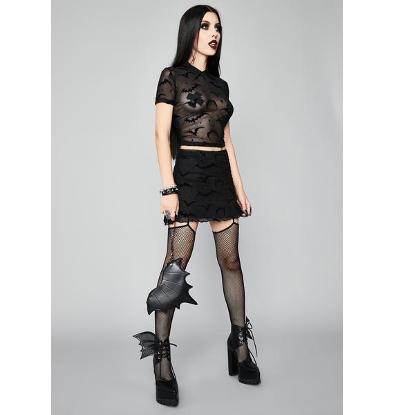 Widow Total Darkness Mesh Mini Skirt