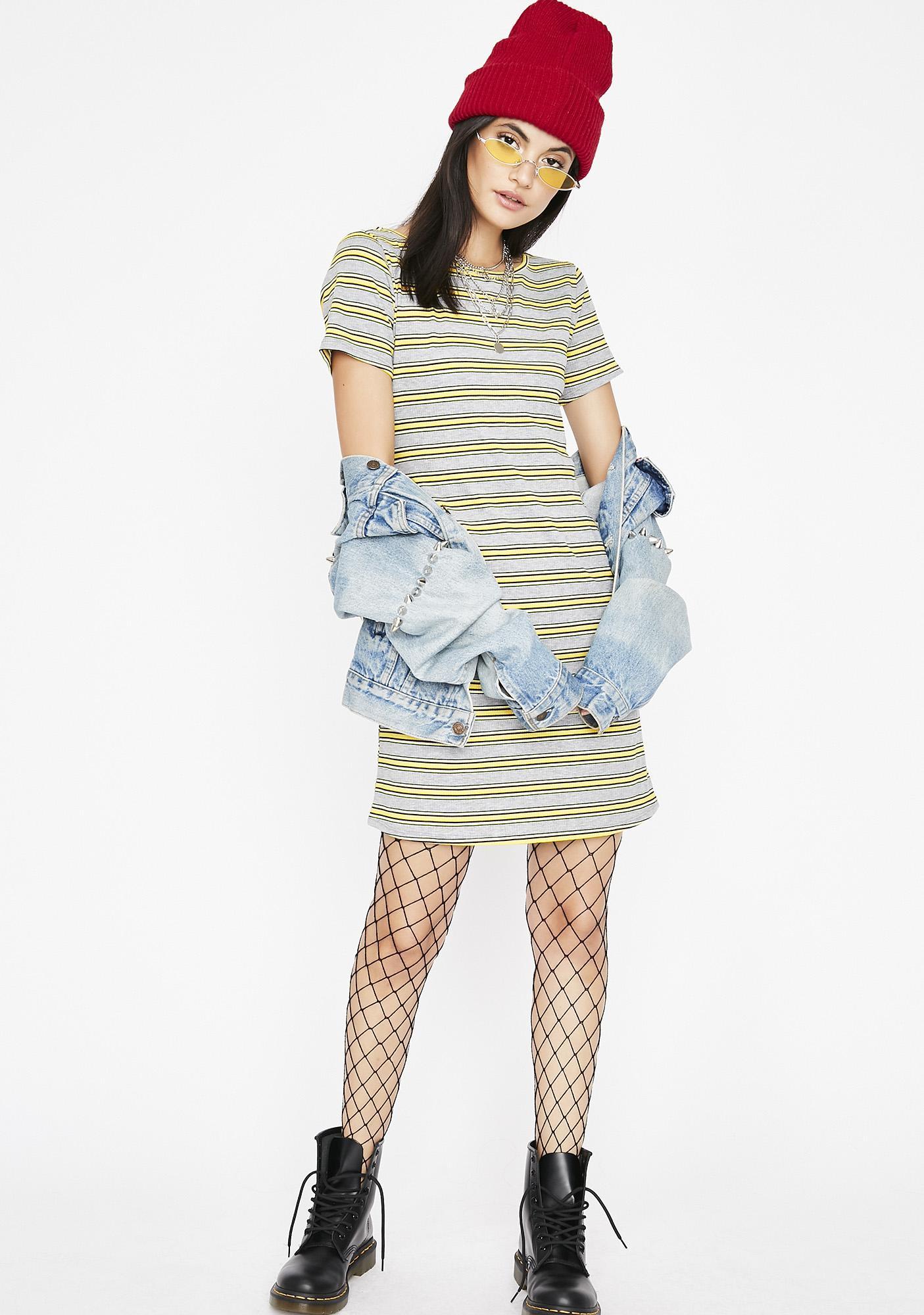 Breaking Rulez Stripe Dress