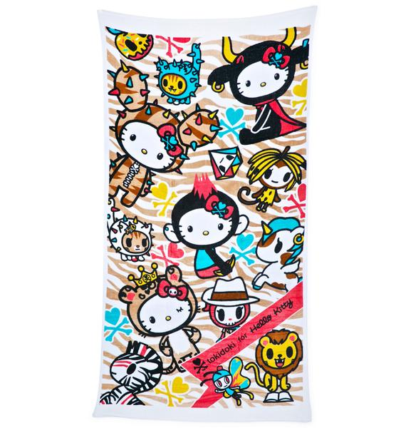 Sanrio Tokidoki X Hello Kitty Summer Safari Beach Towel