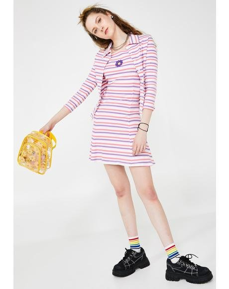 Get A Clue Striped Dress