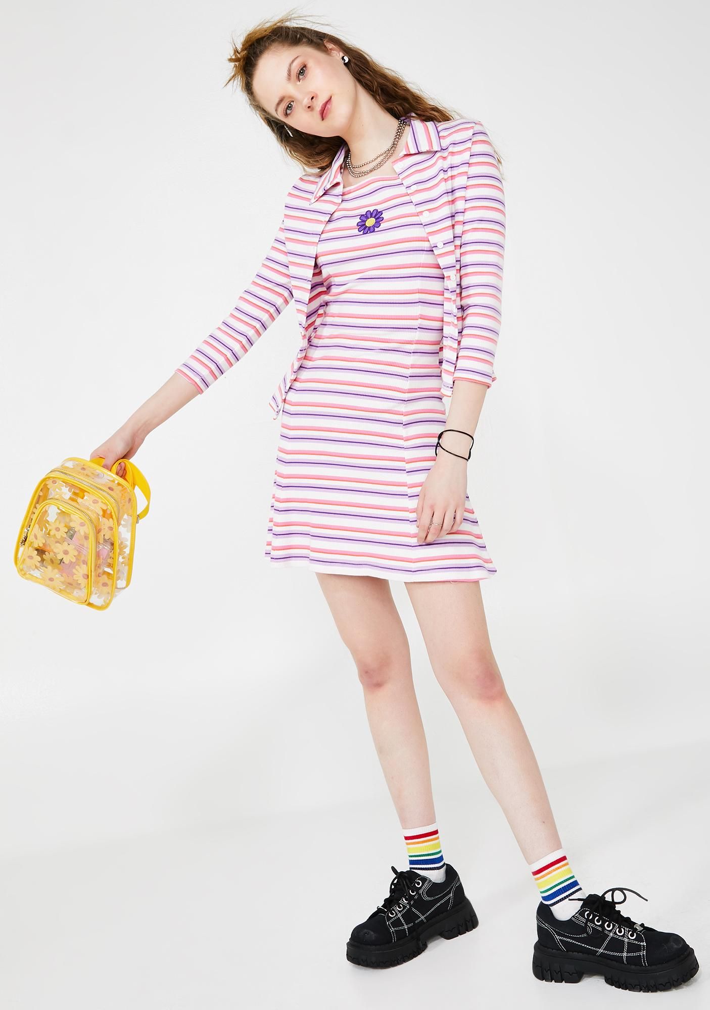 dELiA*s by Dolls Kill Get A Clue Striped Dress