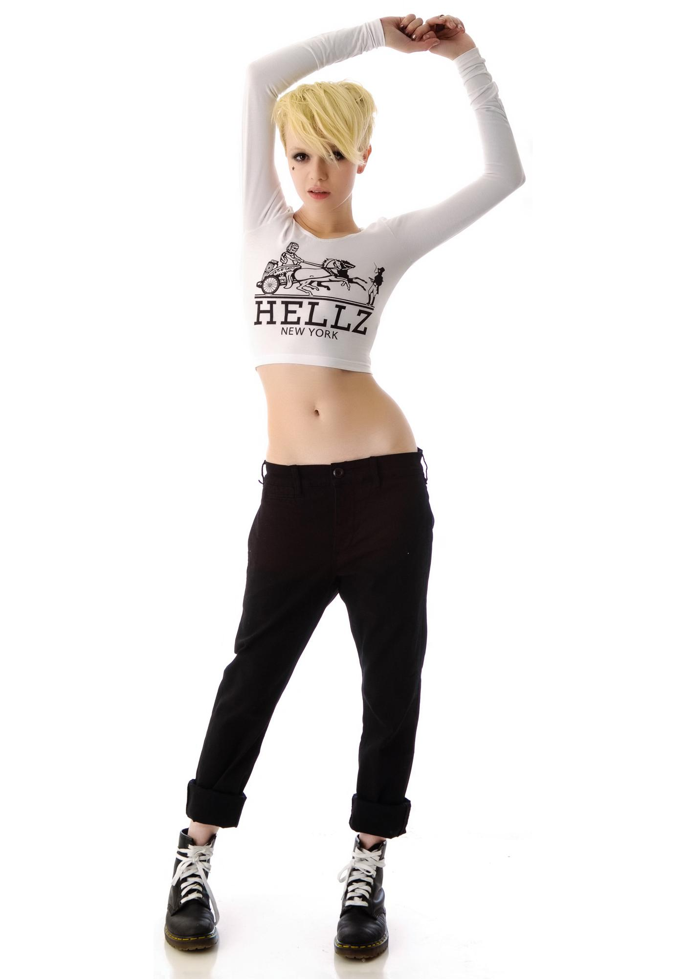 HLZBLZ x Belle of the Brawl Hermez Long Sleeve Crop Top