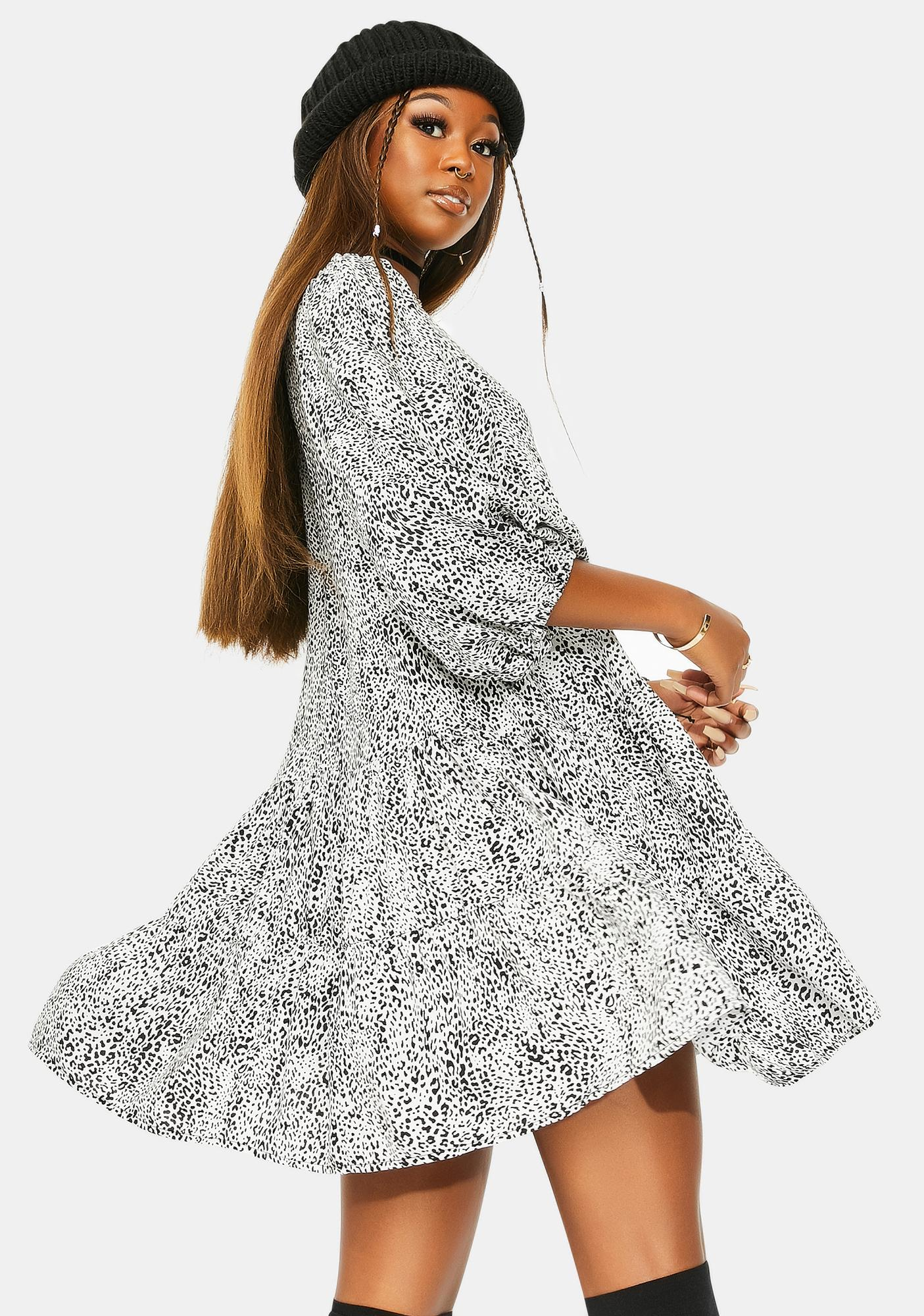 Motel Leo Spot Mareta Tea Dress