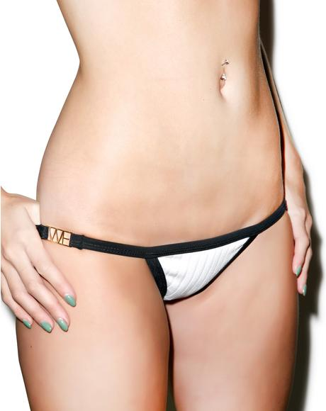 Double Bandage Knit Contrast Bottom