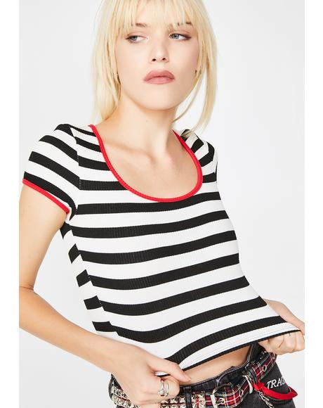 Model Behavior Striped Top