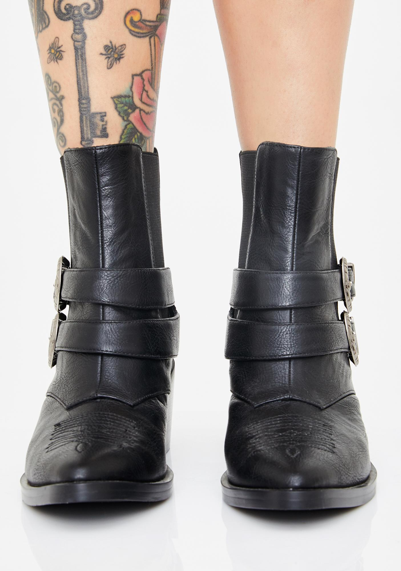 Current Mood West Wind Cowboy Booties