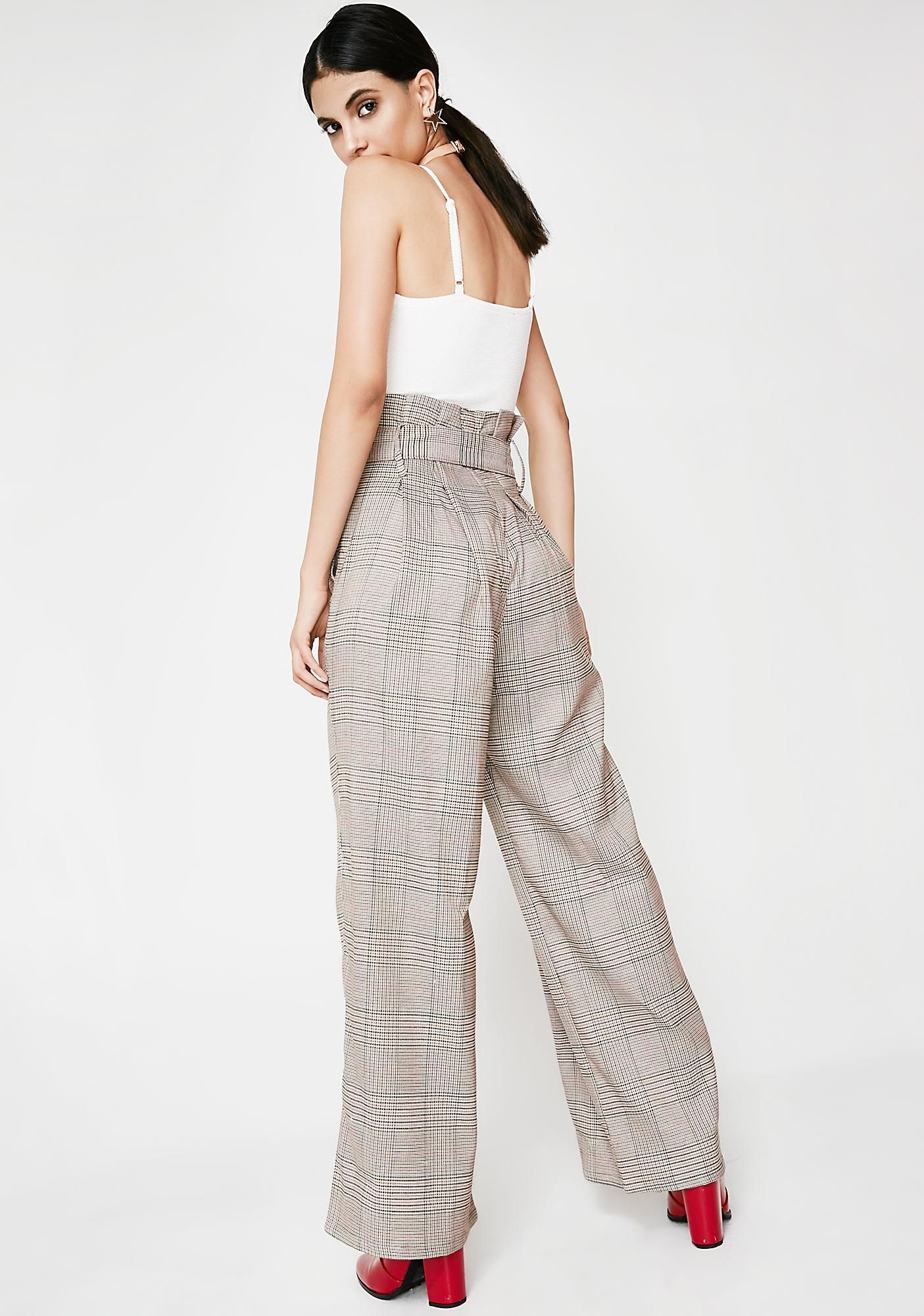 Keep It Twisted Plaid Pants