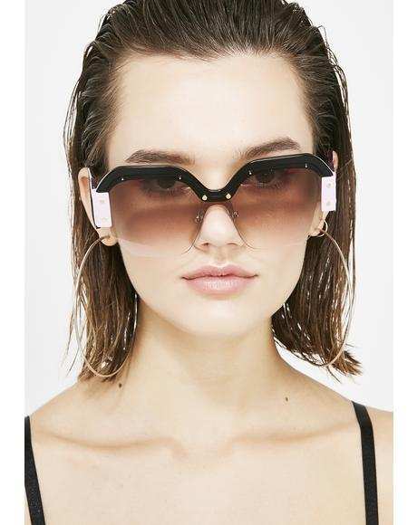 Violet Fashion Killa Oversized Sunglasses