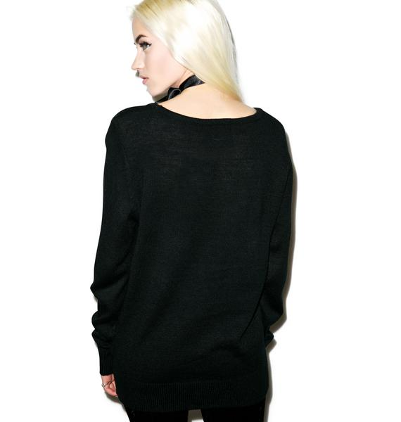 Killstar Goth Knit Sweater