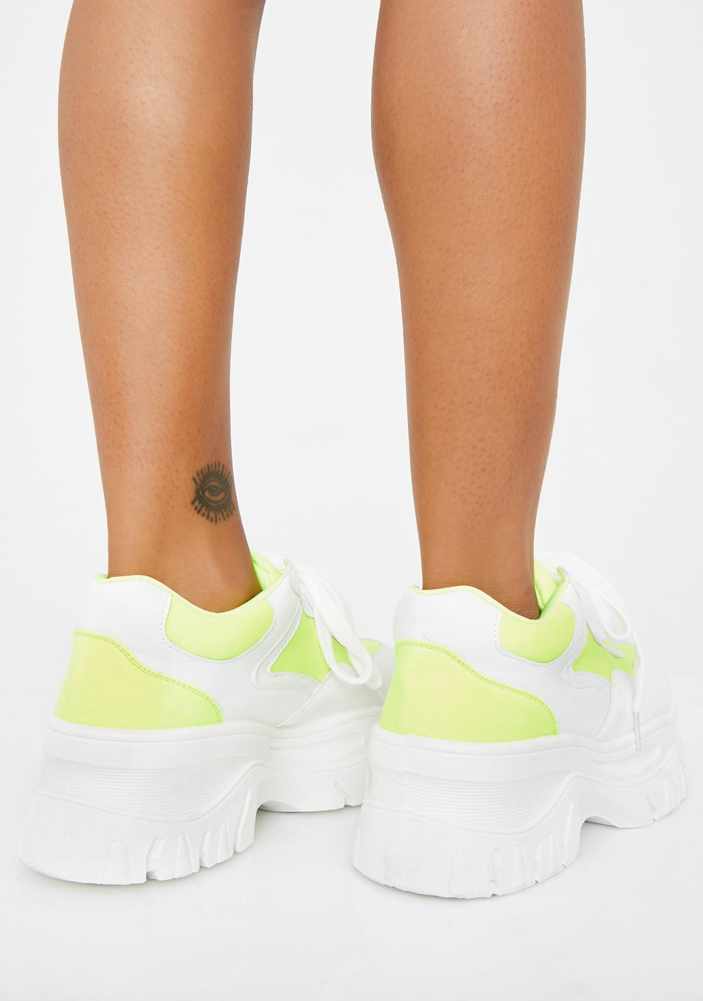 Electric Insta Pop Platform Sneakers