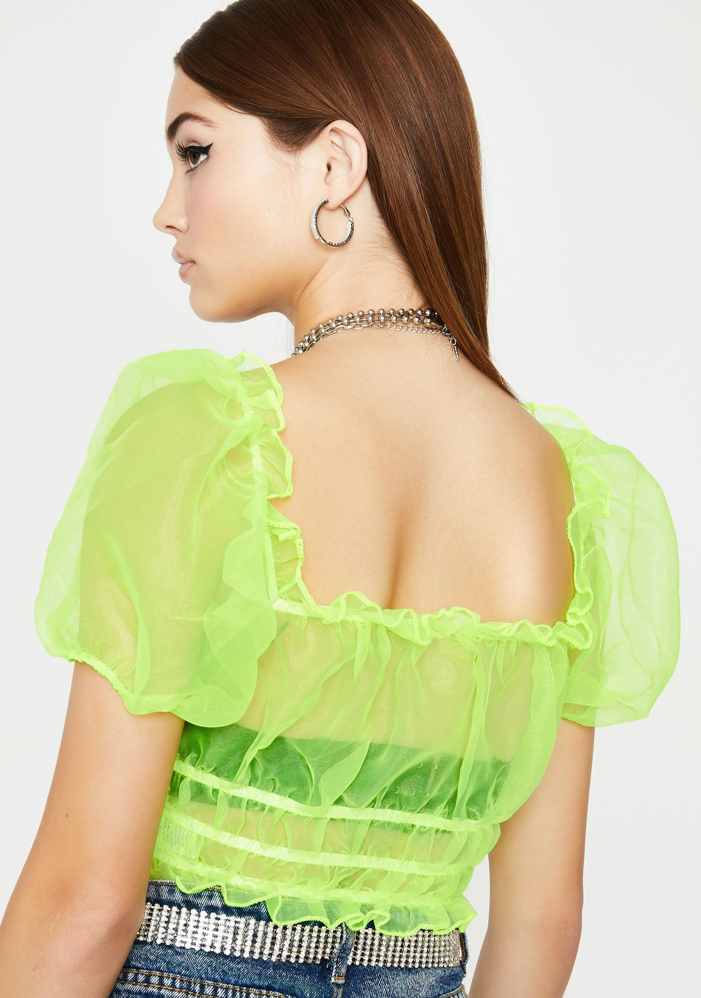 Flashy N' Flirty Organza Top