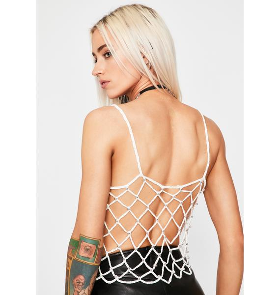 Pure Front Row Posted Crochet Tank