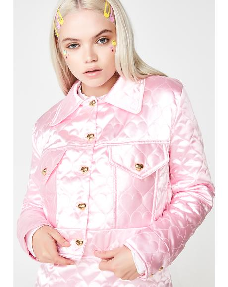 Sweetheart Satin Jacket