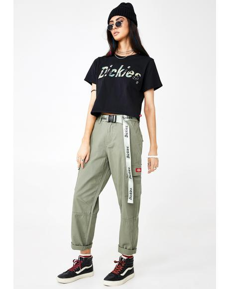 Belted Utility Cargo Pants