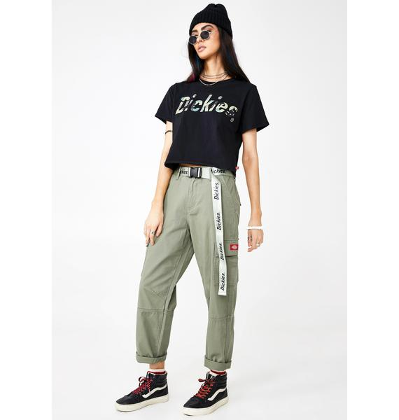 Dickies Girl Belted Utility Cargo Pants