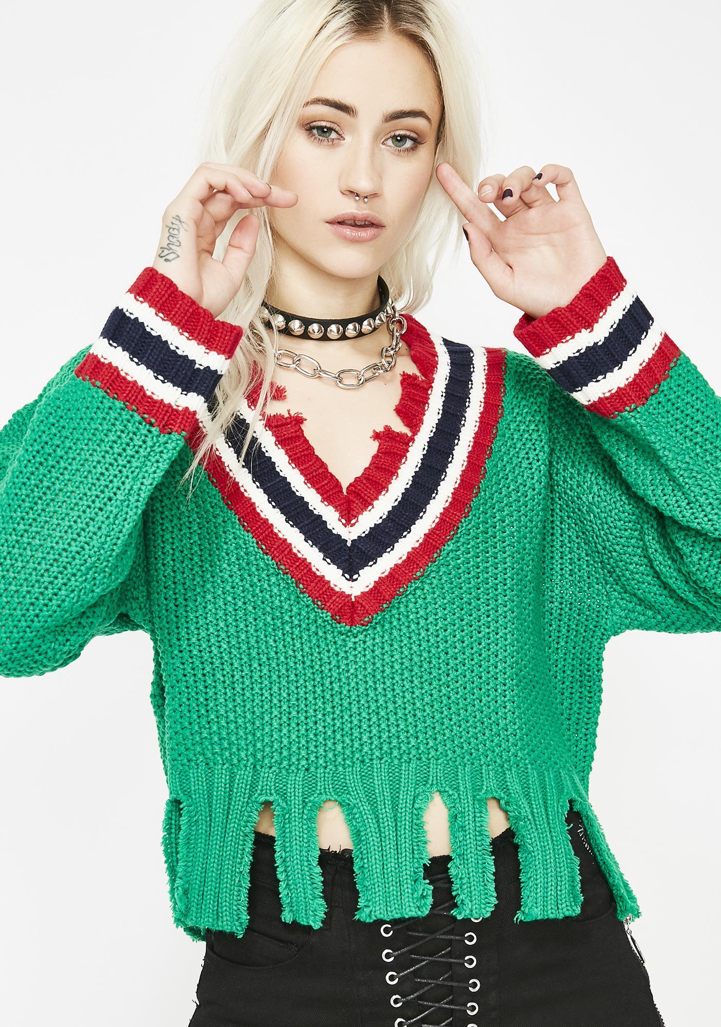 Jock Diaries Cropped Sweater