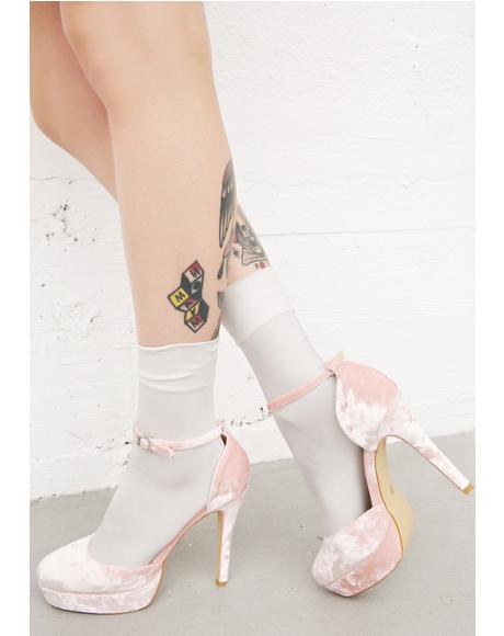 Cupid'z Crush Velvet Heels