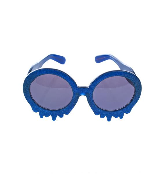Hayley Elsaesser Blue Slime Time Sunglasses
