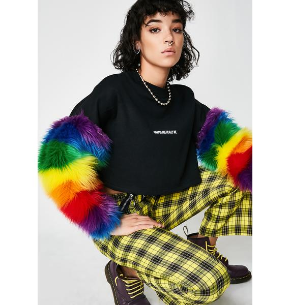 LOVE TOO TRUE Unapologetically Me Rainbow Jumper